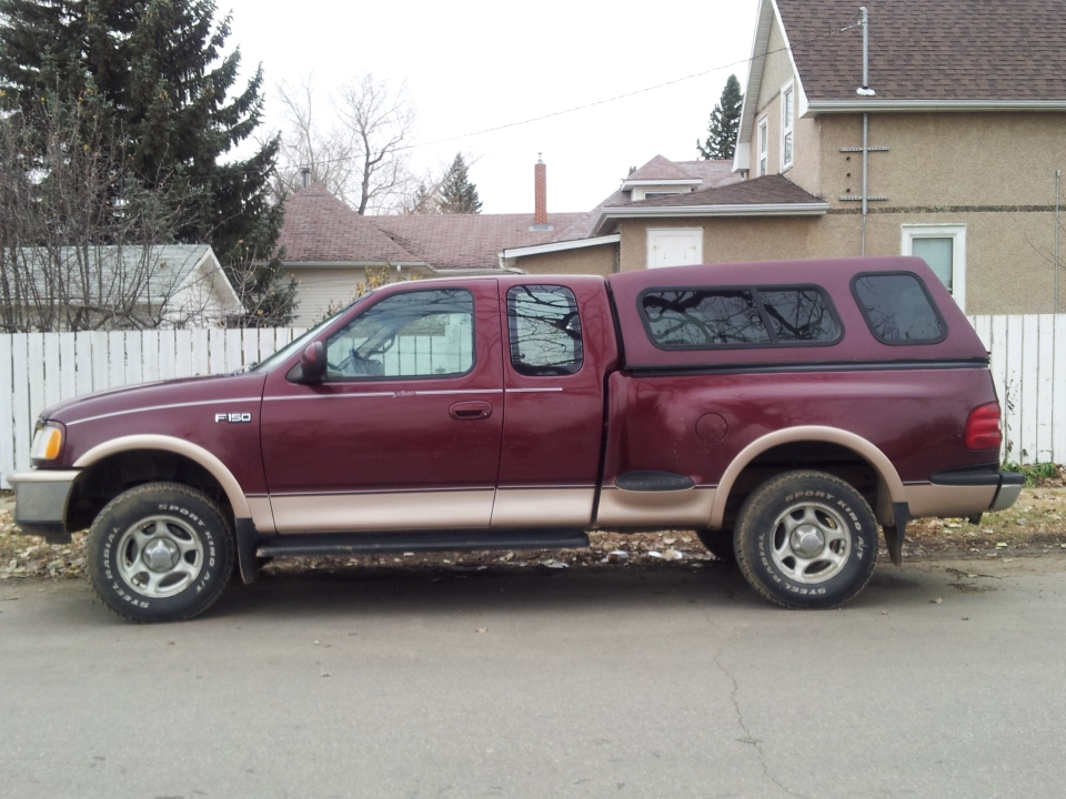 RCMP say Kenneth Korven may be driving this Ford F-150 pickup truck.