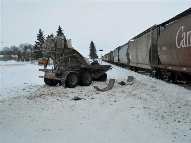 semi vs train
