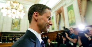 Nigel Wright, the former chief of staff for Prime Minister Stephen Harper, appears as a witness at the Standing Committee on Access to Information, Privacy and Ethics on Parliament Hill in Ottawa on Tuesday Nov. 2, 2010. (Sean Kilpatrick / THE CANADIAN PRESS)