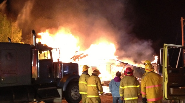 The Flying Goose Inn has burned to the ground in Lafleche.