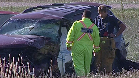 RCMP are still investigating the accident, and have closed the highway while they piece together what happened.