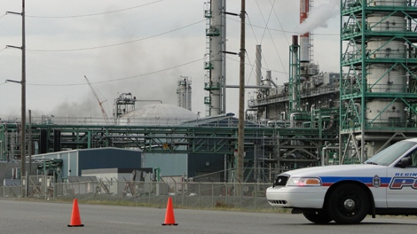Smoke is seen after an explosion at the Co-op Refinery-Upgrader Complex in Regina on Thursday.