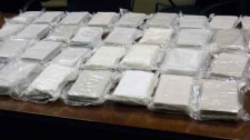 Cocaine seized in a recent drug bust is seen in this photo provided by RCMP.