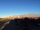 Smoke billows from the Louis Dreyfus Commodities plant in Yorkton following an explosion and fire Friday morning. (Twitter/@Ember6996)