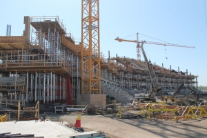 Construction work continues on the new Mosaic Stadium in Regina. The $278 million stadium is slated to open by the start of the 2017 CFL season.