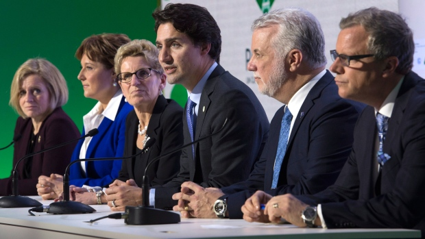 Canada climate Trudeau with premiers