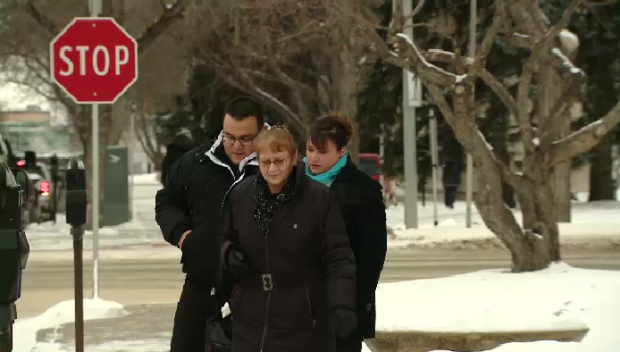 Kevin and Tammy Goforth leaving the courthouse in Regina.