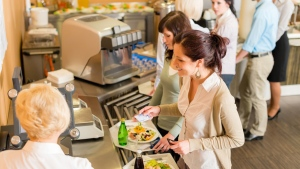 A new U.S. study has found that when consumers are provided with a graph displaying the nutritional content of their food in a cafeteria setting, they purchase healthier items. (CandyBox Images/Shutterstock.com)
