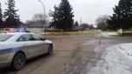 Regina police continue to investigate weekend death on the 700 block of Garnet Street. (PHOTO/ Rebekah Lesko)
