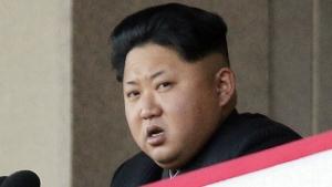 North Korean leader Kim Jong Un delivers remarks at a military parade in Pyongyang, North Korea on Oct. 10, 2015. (AP / Wong Maye-E)