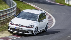 The Volkswagen Golf GTi Clubsport S taking on the Nurburgring. (Volkswagen)
