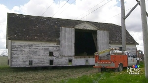 Old barn relocated