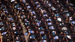 University of British Columbia students attend spring convocation in Vancouver in a May 20, 2015, file photo. (THE CANADIAN PRESS/Darryl Dyck)