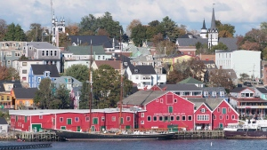 Bluenose II, the iconic Canadian schooner, sits at berth on the waterfront in Lunenburg on Sunday, October 18, 2015. The historic town was designated a UNESCO World Heritage site in 1995 which ensures protection for much of Lunenburg's unique architecture and civic design. THE CANADIAN PRESS/Andrew Vaughan