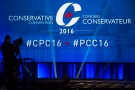 A television camera man sets up at the Conservative Party of Canada convention in Vancouver, Thursday, May 26, 2016. THE CANADIAN PRESS/Jonathan Hayward