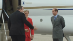 The Earl and Countess of Wessex arrive in Regina on June 22, 2016