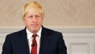 Former London mayor Boris Johnson announces he will not run for Britain's ruling Conservative Party in London, Thursday, June 30, 2016. (AP Photo/Matt Dunham)