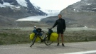 Man cycling across Canada stops in Regina