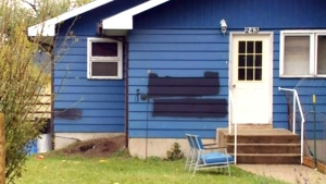 Hateful words spray painted on Sask. home