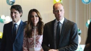 The Duke and Duchess of Cambridge, accompanied by Prime Minister Justin Trudeau, are seen during a reception at Telus Gardens, in Vancouver on Sunday, Sept. 25, 2016. THE CANADIAN PRESS/Jonathan Hayward