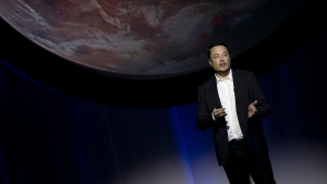 SpaceX founder Elon Musk speaks during the 67th International Astronautical Congress in Guadalajara, Mexico, Tuesday, Sept. 27, 2016. (Refugio Ruiz/AP Photo)