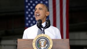 President Barack Obama speaks to members of the military community, Wednesday, Sept. 28, 2016, in Fort Lee, Va. (AP Photo / Carolyn Kaster)