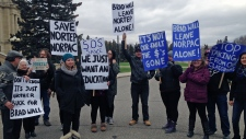 Northern Teacher Education Program protest