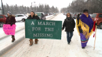Dozens march for missing, murdered men