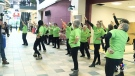 Flash mob marks World Aids Day