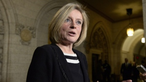 Alberta Premier Rachel Notley speaks to reporters during a media availability on Parliament Hill in Ottawa on Tuesday, Nov. 29, 2016. (Justin Tang / THE CANADIAN PRESS)