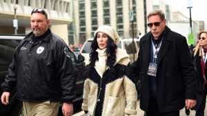 Cher arrives for the Women's March on Washington on Independence Ave. on Saturday, Jan. 21, 2017 in Washington. Thousands are massing on the National Mall for the Women's March, and they're gathering, too, in spots around the world. (AP Photo / Sait Serkan Gurbuz)