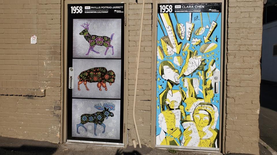 Alley art in downtown Regina.