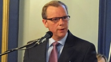 Saskatchewan Premier Brad Wall announces a major cabinet shuffle Friday at Government House in Regina.