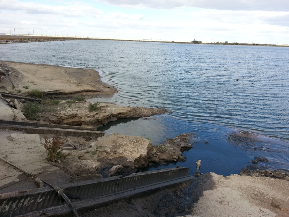 A lagoon near the Regina wastewater treatment plant is seen in this file photo.